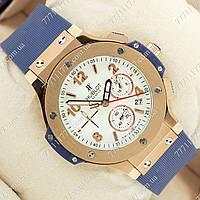 Часы мужские наручные Hublot Big Bang AAA Blue/Gold/White, фото 1