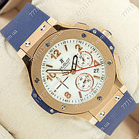 Часы мужские наручные Hublot Big Bang AAA Blue/Gold/White