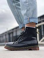 Ботинки Доктор Мартинс черного цвета (Черные ботинки Dr. Martens женские и мужские размеры 36-44)