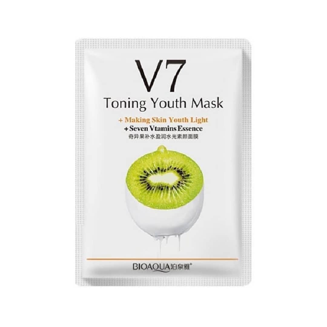 Витаминная омолаживающая маска с экстрактом киви BIOAQUA Toning Youth Mask Kiwi