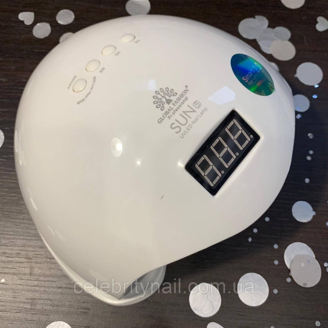Лампа для маникюра Sun 5 Smart UV/LED ,48 Вт , (белая),  Global Professional