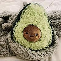 Мягкая плюшевая подушка Авокадо 45 см