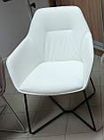 Крісло LAREDO BL (Ларедо) кожзам білий Nicolas, фото 2