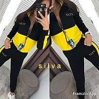 Женский спортивный костюм Silva черно-желтый