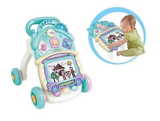 Каталка-ходунки детская со светом, музыкой и звуком