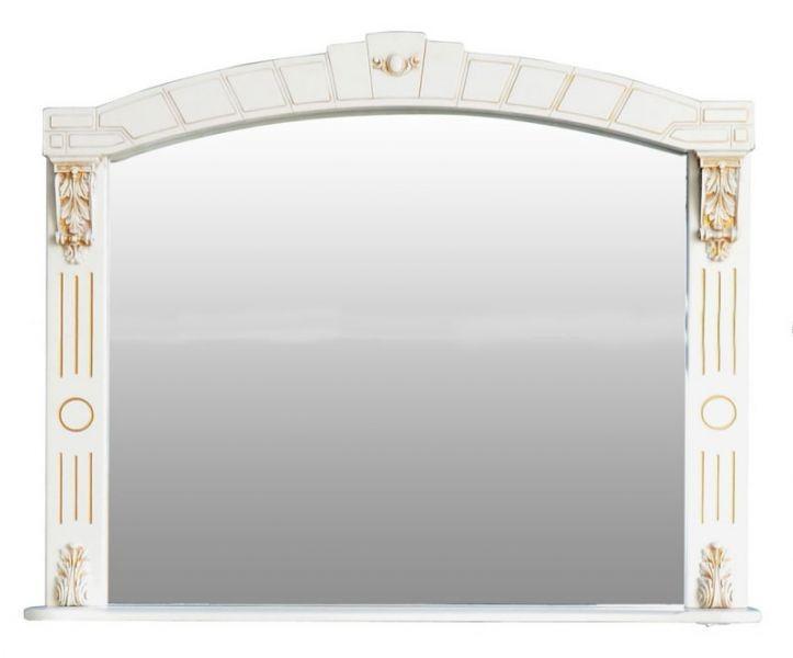 Зеркало Атолл Александрия 100 (слоновая кость, золото), 1055х140х880 мм
