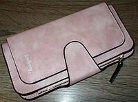 Кошелек - клатч Baellerry нубук розовый