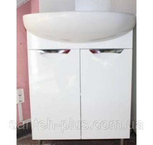 Тумба для ванной комнаты Грация Т1 с умывальником Лотос-70