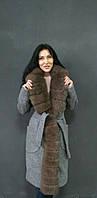 Пальто с мехом финского песца