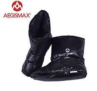 Пуховые носки (зимние), обувь из пуха Aegismax Размер L 24-27см. черный