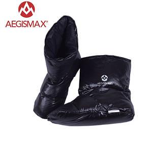 Пуховые носки (зимние), обувь из пуха Aegismax Размер L 24-27см чорні.