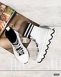Стильные спортивные ботинки демисезонные женские белые кожаные, фото 6