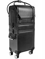 Большой косметический чемодан - эко-кожа