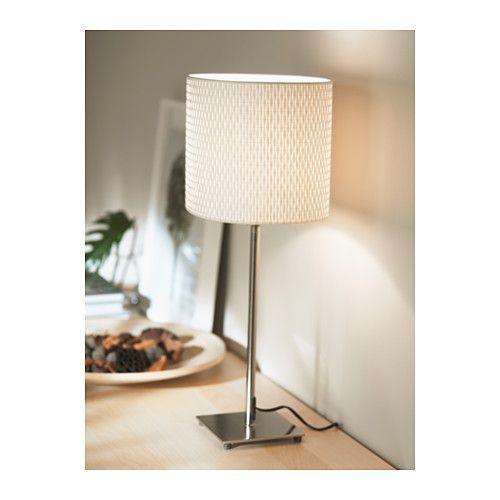"""ИКЕА """"АЛЭНГ"""" Лампа настольная, никелированный, белый"""