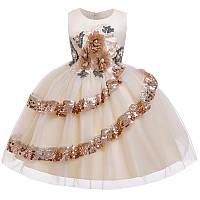 Нарядное бальное платье. Cappuccino на девочку 5-12 лет2021