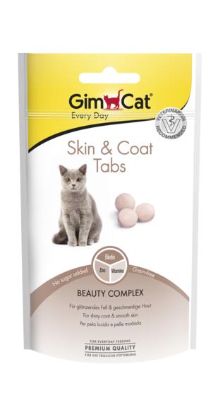 Лакомство для кошек для здоровья и красоты шерсти GimCat Skin&Coat Tabs 40 г