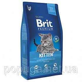 Корм Brit Premium Kitten для котят КУРИЦА, 8 кг