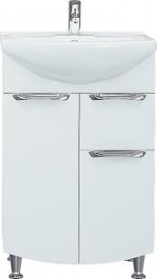 Тумба для ванной комнаты с выдвижным ящиком Грация Т3 с умывальником Лотос-70