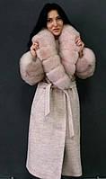 Шикарное пальто с мехом финского песца