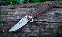 Нож складной, с деревянной рукояткой, с узким и тонким клинком, теплый на морозе, легкий и компактный