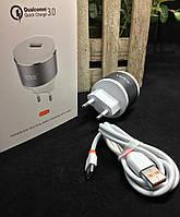 Сетевое зарядное устройство VIDVIE PLE211Q, Quick Charge 3.0,Type-C cable