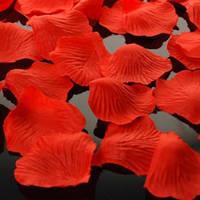 Искусственные лепестки роз красные, 600 шт