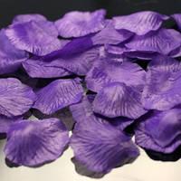 Искусственные лепестки роз фиолетовые, 600 шт.