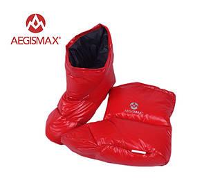 Пуховые носки (зимние), обувь из пуха Aegismax Размер L 24-27см красные.