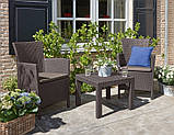 Набір садових меблів Rosario Balcony Set Brown ( коричневий ) з штучного ротанга ( Allibert by Keter ), фото 6