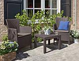 Набор садовой мебели Rosario Balcony Set Brown ( коричневый ) из искусственного ротанга ( Allibert by Keter ), фото 6