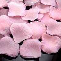 Искусственные лепестки роз нежно-розовые, 600 шт.