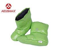 Пуховые носки (зимние), обувь из пуха Aegismax Размер L 24-27см. зеленый
