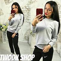 """Стильный женский спортивный костюм"""" Nike """" ,серого цвета"""