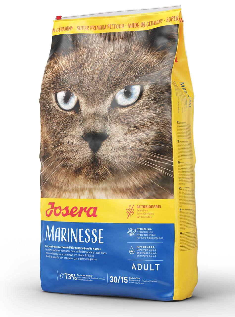 Сухой гипоаллергенный корм для взрослых кошек Josera Marinesse с лососем 4,25 кг