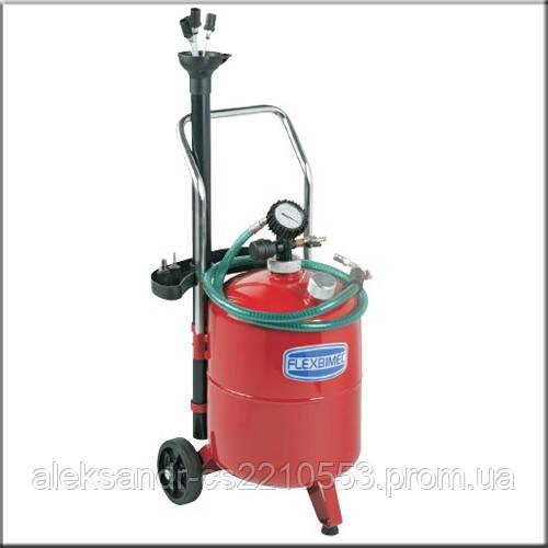 Flexbimec 3025 - Установка для сбора отработанного масла с пневматическим сливом 24 л