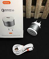 Сетевое зарядное устройство VIDVIE PLE211Q, Quick Charge 3.0,Micro cable