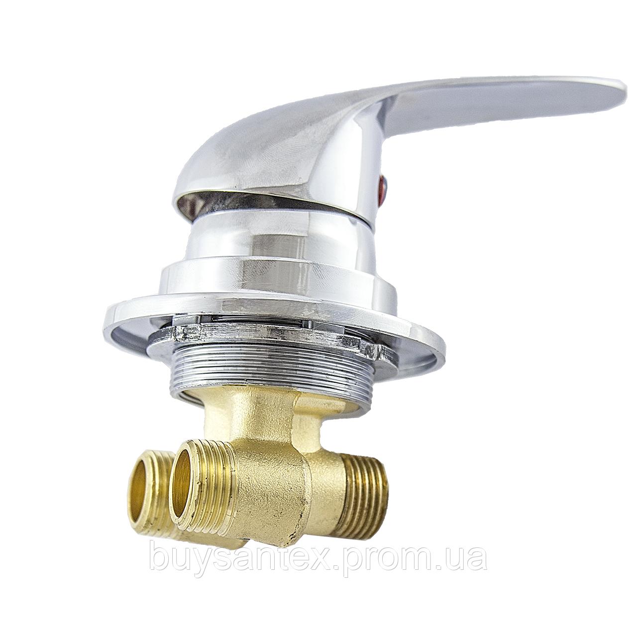 Смеситель регулировки холодной и горячей вод для гидромассажной ванны и скрытого монтажа (J6040P) встраиваемый