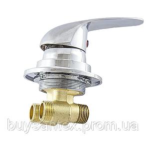 Смеситель регулировки холодной и горячей вод для гидромассажной ванны и скрытого монтажа (J6040P) встраиваемый, фото 2