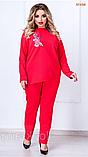 Красный женский костюмчик, фото 4