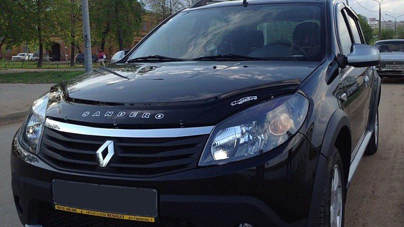 Дефлектор капота VIP Renault Sandero с 2008 г.в.