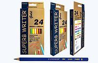 "Набор цветных карандашей 24 цвета MARCO ""Superb writer Gold"""