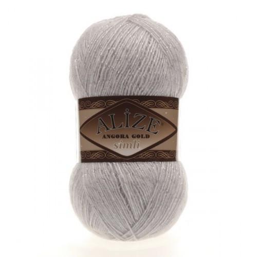 ANGORA GOLD SIMLI 168 белая зима - 20% шерсть, 5% металлик, 75% акрил