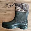 Гумові чоботи чоловічі зимові зелені Krok. Знижка! Залишився 41р. Мужские резиновые зимние зелёные ботинки, фото 7