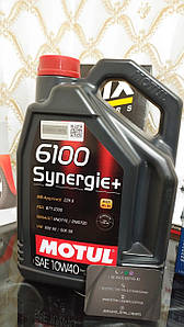 Моторне масло Motul 6100 Synergie+ 10W-40 5 л