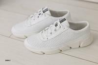Мужские кроссовки белые с перфорацией 39