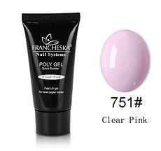 Poly Gel Francheska #751 Clear Pink, 45г