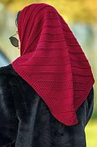 В'язаний капор-хустку під шубу різні кольори, фото 2