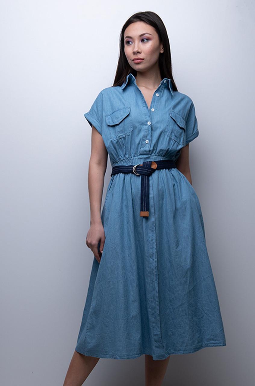 Хлопковое платье на лето с открытыми плечами и кружевом 1382 vN4786