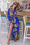 Принтованное длинное платье - халат на запах vN4807, фото 2