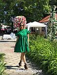 Свободное хлопковое платье на лето с оборками и коротким рукавом vN4860, фото 2